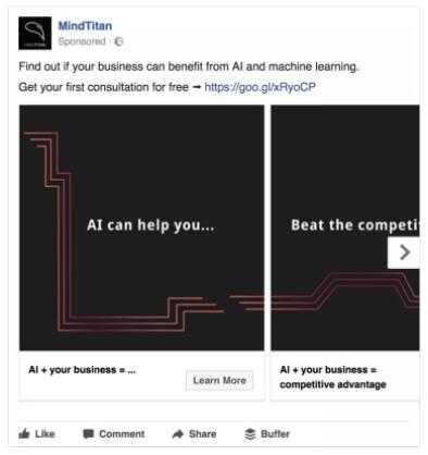 10大值得學習的FACEBOOK輪播廣告設計