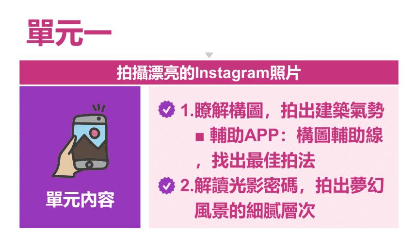 [資策會政府補助] Instagram美圖攝影、編修與廣告實戰
