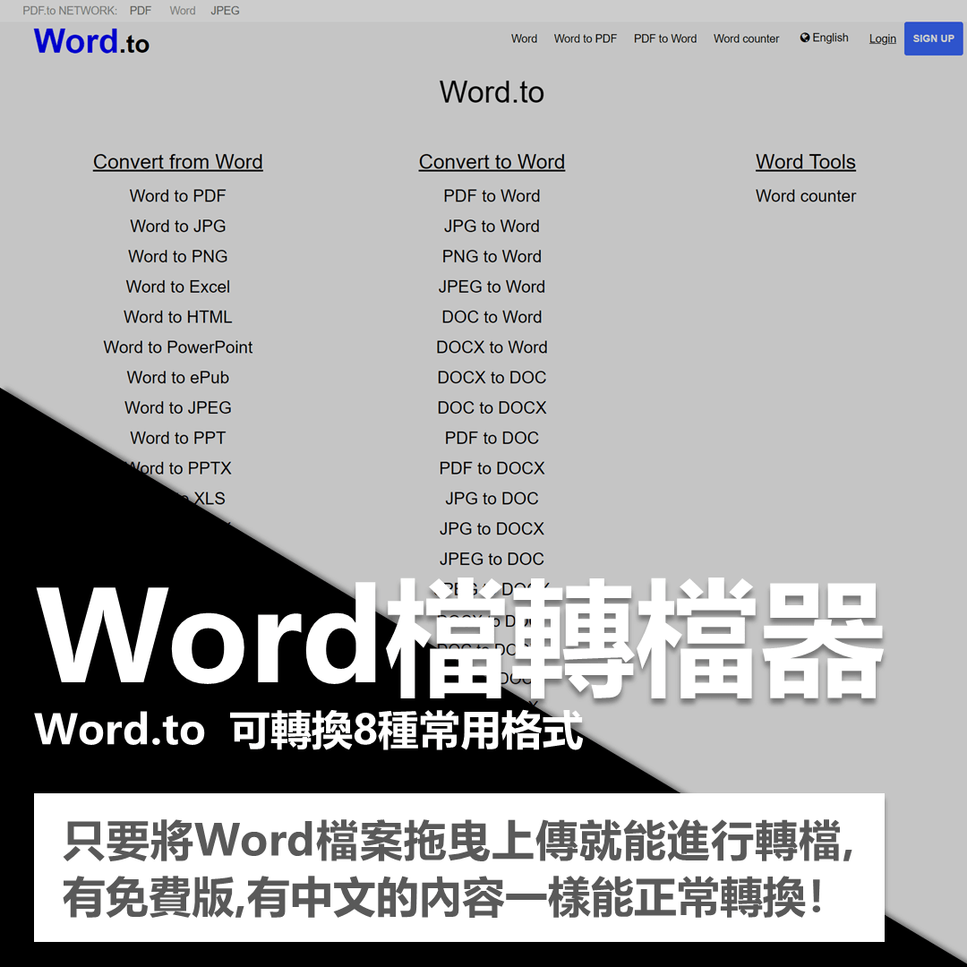 超強大轉檔工具!可轉換1100種檔案格式!